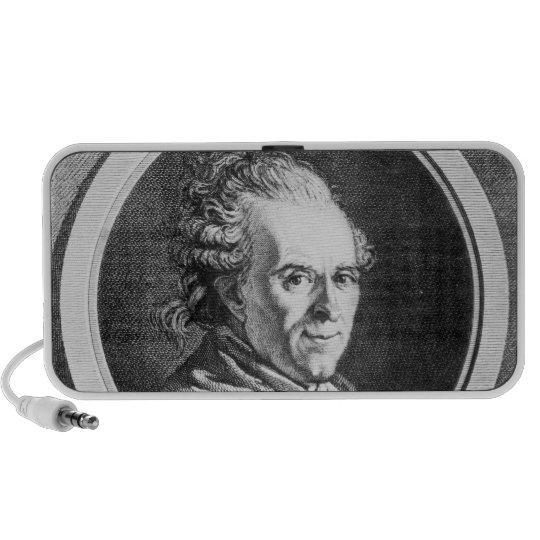 Portrait of Michel-Jean Sedaine Portable Speaker