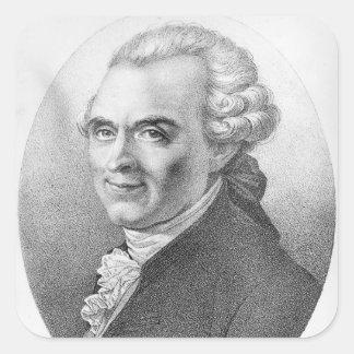 Portrait of Michel-Jean Sedaine Square Sticker