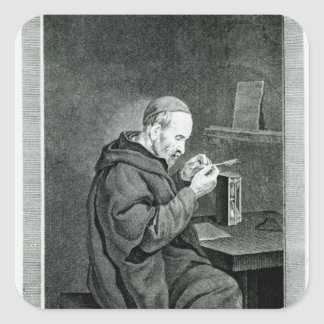 Portrait of Michel Nostradamus Square Sticker