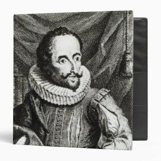 Portrait of Miguel de Cervantes Saavedra 3 Ring Binder