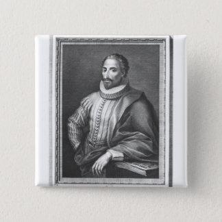 Portrait of Miguel de Cervantes Saavedra Button