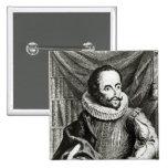 Portrait of Miguel de Cervantes Saavedra Buttons