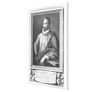 Portrait of Miguel de Cervantes Saavedra Canvas Print