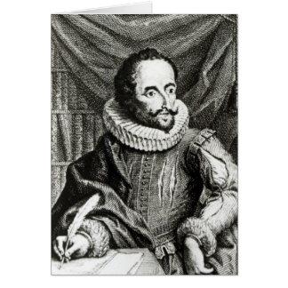 Portrait of Miguel de Cervantes Saavedra Card