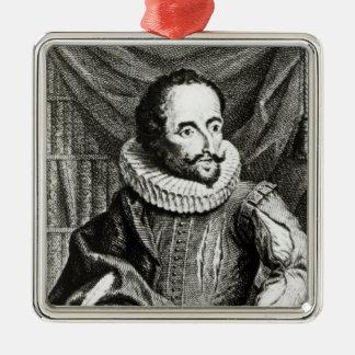 Portrait of Miguel de Cervantes Saavedra Metal Ornament