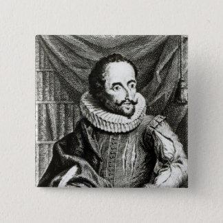 Portrait of Miguel de Cervantes Saavedra Pinback Button