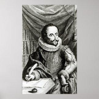 Portrait of Miguel de Cervantes Saavedra Poster