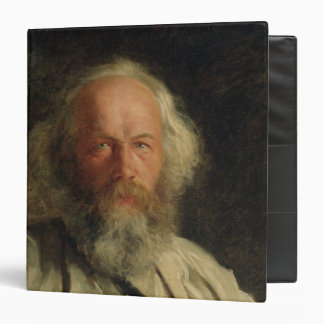 Portrait of Mikhail Alexandrovich Bakunin  1871 3 Ring Binder