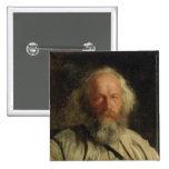 Portrait of Mikhail Alexandrovich Bakunin  1871 2 Inch Square Button