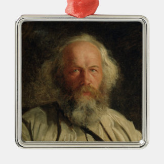 Portrait of Mikhail Alexandrovich Bakunin  1871 Metal Ornament