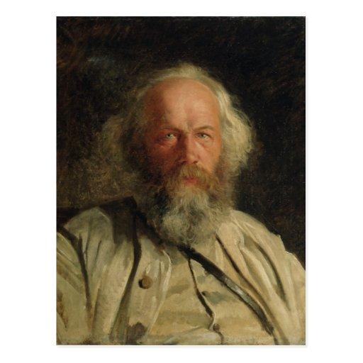 Portrait of Mikhail Alexandrovich Bakunin  1871 Postcard