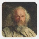 Portrait of Mikhail Alexandrovich Bakunin  1871 Stickers
