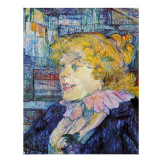 Portrait of Miss Dolly by Toulouse-Lautrec Poster