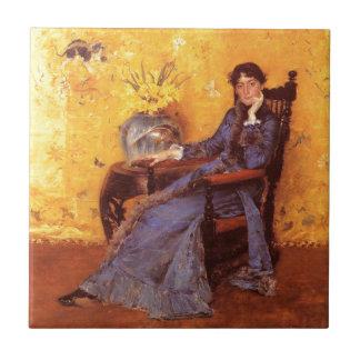 Portrait of Miss Dora Wheele Ceramic Tile