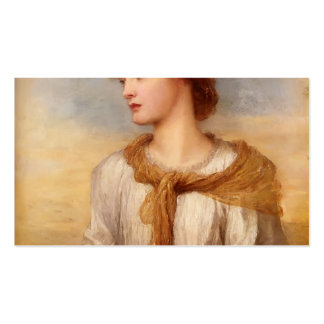 Portrait Of Miss Lilian by George Watts Double-Sided Standard Business Cards (Pack Of 100)