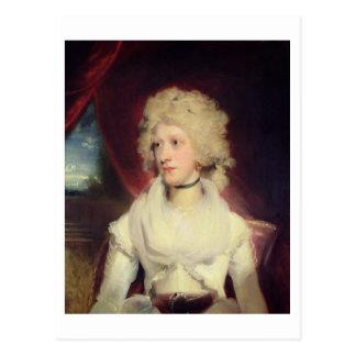 Portrait of Miss Martha Carr (oil on canvas) Postcard