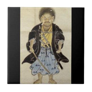 Portrait of Miyamoto Musashi as a Boy, Edo Period Tile