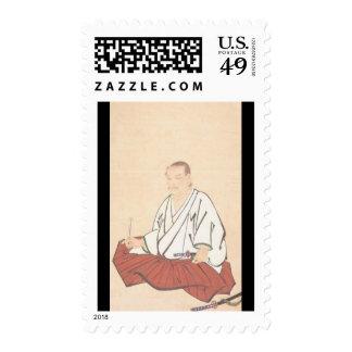 Portrait of Miyamoto Musashi, Edo Period Postage Stamps