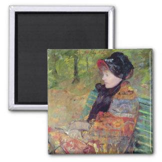 Portrait of Mlle C. Lydia Cassatt, 1880 2 Inch Square Magnet