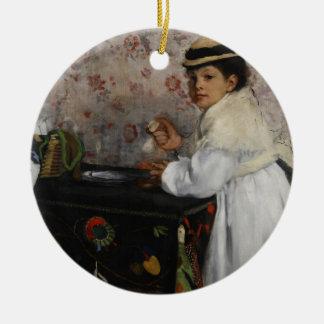 Portrait of Mlle. Hortense Valpinçon, c.1871 Christmas Tree Ornament