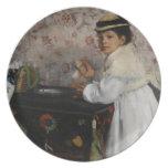 Portrait of Mlle. Hortense Valpinçon, c.1871 Plate