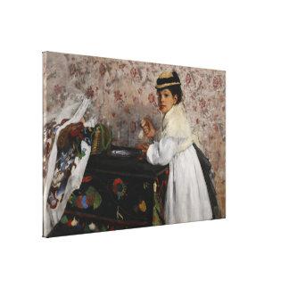 Portrait of Mlle Hortense Valpincon by Edgar Degas Canvas Print