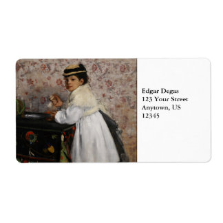 Portrait of Mlle Hortense Valpincon by Edgar Degas Label