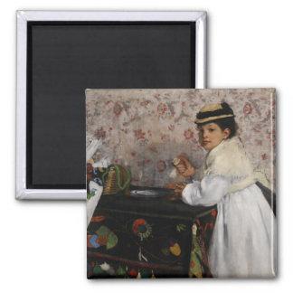 Portrait of Mlle Hortense Valpincon by Edgar Degas Magnet