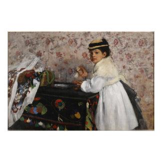 Portrait of Mlle Hortense Valpincon by Edgar Degas Art Photo