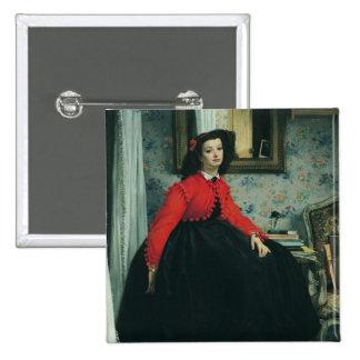 Portrait of Mlle. L.L.  1864 Button
