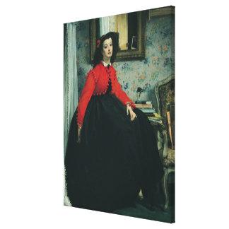 Portrait of Mlle. L.L.  1864 Gallery Wrap Canvas