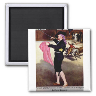Portrait Of Mlle Victorine Magnets