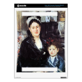 Portrait of Mme Boursier and Daughter by Morisot Xbox 360 Decals