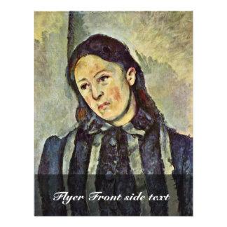 Portrait Of Mme Cézanne, By Paul Cézanneua Flyers