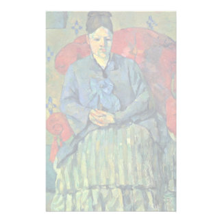 Portrait Of Mme Cézanne In A Red Armchair, Custom Stationery