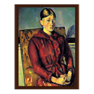 Portrait Of Mme Cézanne In A Yellow Armchair, Postcard