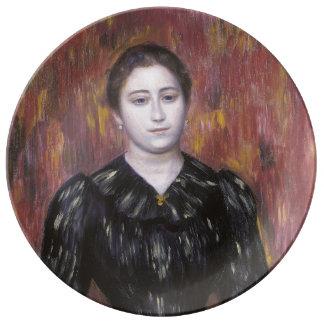 Portrait of Mme Paulin by Pierre-Auguste Renoir Porcelain Plates