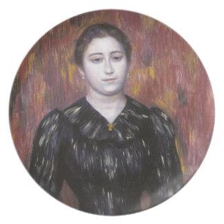 Portrait of Mme Paulin by Pierre-Auguste Renoir Dinner Plates