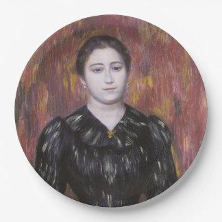 Portrait of Mme Paulin by Pierre-Auguste Renoir 9 Inch Paper Plate