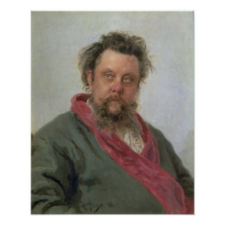 Portrait of Modest Petrovich Moussorgsky  1881 Poster
