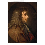Portrait of Moliere  1660 Card