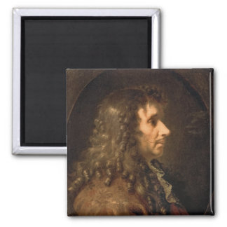 Portrait of Moliere  1660 2 Inch Square Magnet