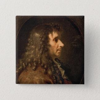 Portrait of Moliere  1660 Pinback Button