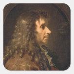 Portrait of Moliere  1660 Stickers