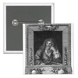 Portrait of Moliere Buttons