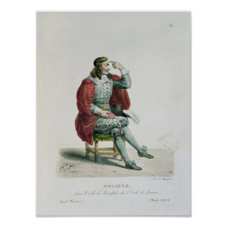 Portrait of Moliere  in the role of Arnolfe Poster