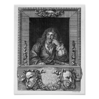 Portrait of Moliere Posters