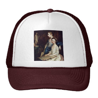 Portrait Of Molly And Peggy With Drawing Supplies Trucker Hat