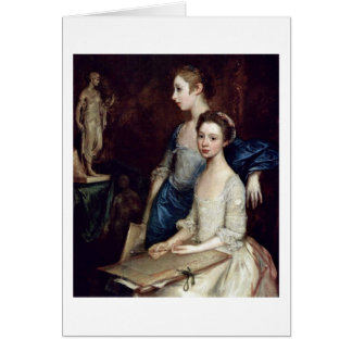 Portrait Of Molly And Pegy By Thomas Gainsborough Card