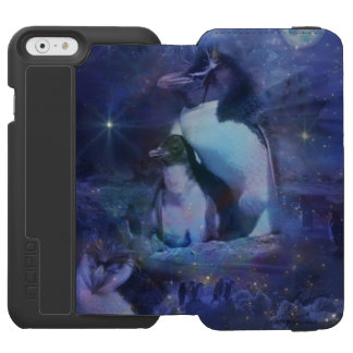 Portrait of Mom and Baby Chick Penguin iPhone 6/6s Wallet Case